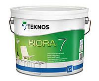 Матовая акрилатная краска для внутренних стен (Тара 2,7 л)Teknos Biora 7