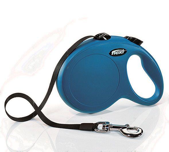 Flexi Рулетка NEW CLASSIC 5м (лента) L до 50 кг 2 цвета