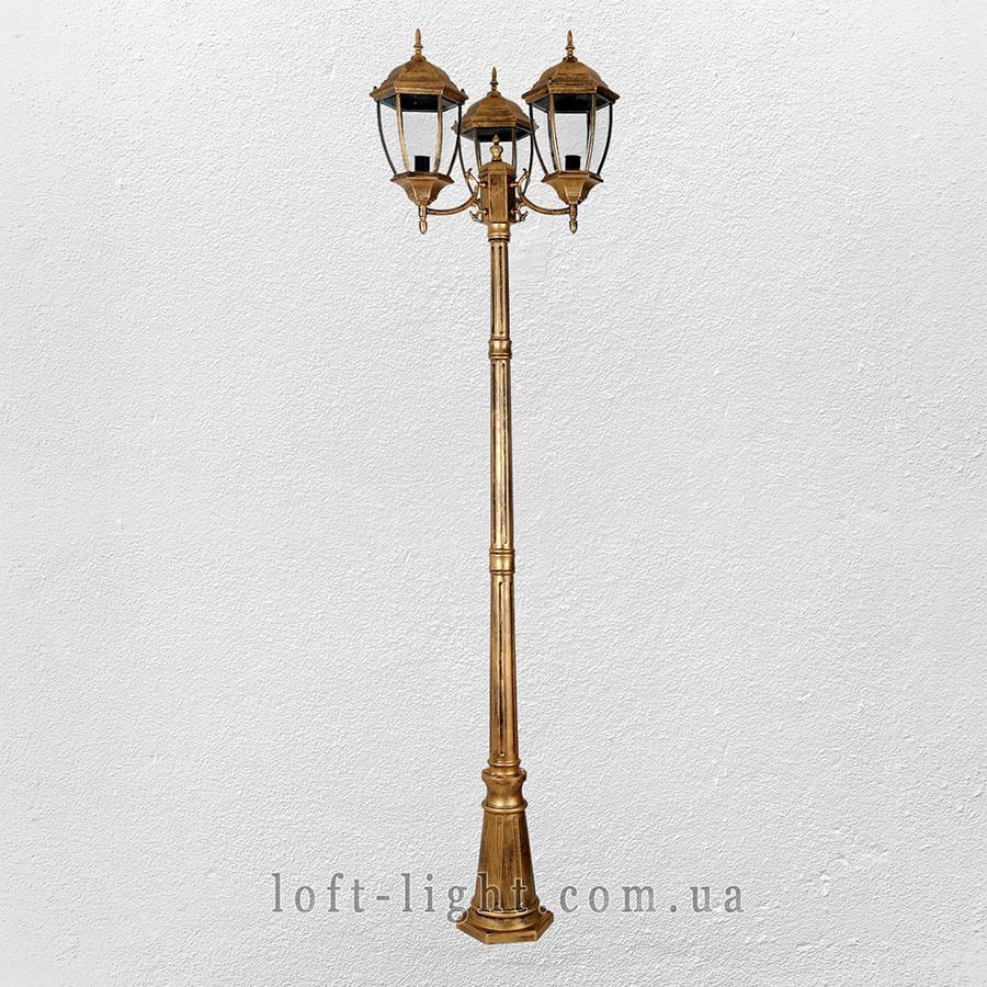 Садово-парковый столб , фонарь  ( модель 67-V3802-L-3 GB )
