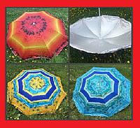 Зонт 180см наклон с напылением РОМАШКА