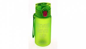 Удобная бутылка с клапаном надписью Никогда не останавливайся 3 вида 400 мл Доступная цена Дешево Код: КГ5476