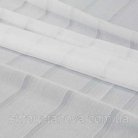 Тюль батист, полосы, белый