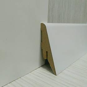 Плінтус білий МДФ підлоговий скошений 19*55*2800 мм