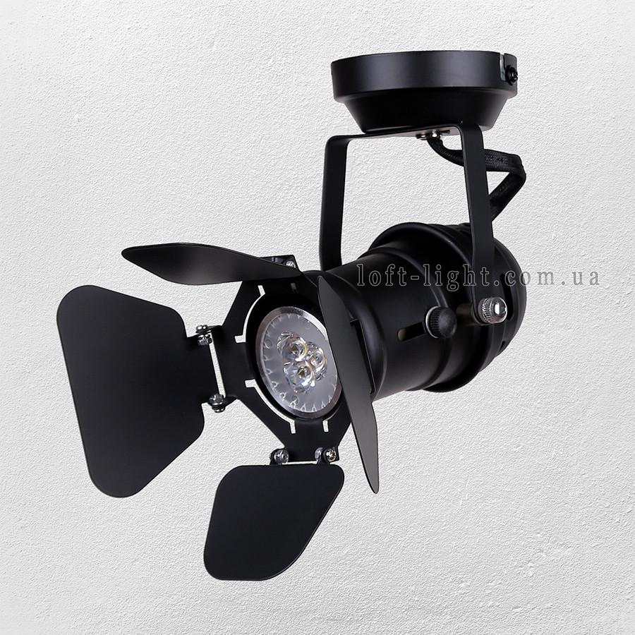 Прожектор потолочный  лофт  52-30 BK
