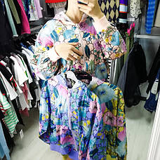 Ветровка короткая фиолетовая с капюшоном- 541-43812-3, фото 3