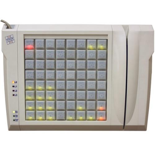 LED клавиатура LPOS-065-RS485-M02 со считывателем магнитных карт