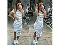 Летнее женское платье-сарафан миди 30821
