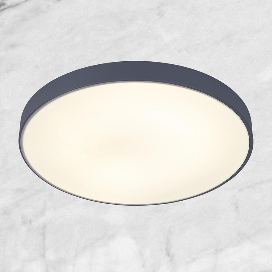 Светодиодная потолочная люстра с пультом (серая 50см)