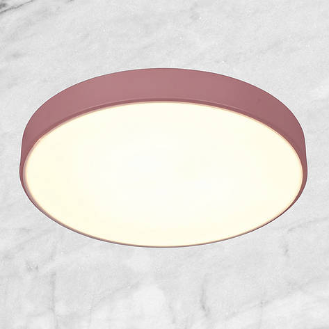 Светодиодная потолочная люстра с пультом (розовая 50см), фото 2