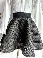 Школьная юбка черная неопрен р. 122-140