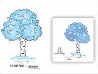 """Декорация  дерево """"Береза зимняя"""""""