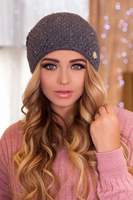 красивая вязаная шапка колпак дуглас артикул 4467 продажа цена