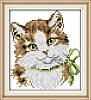 Кошечка 189 Набор для вышивки крестом с печатью на ткани 14ст