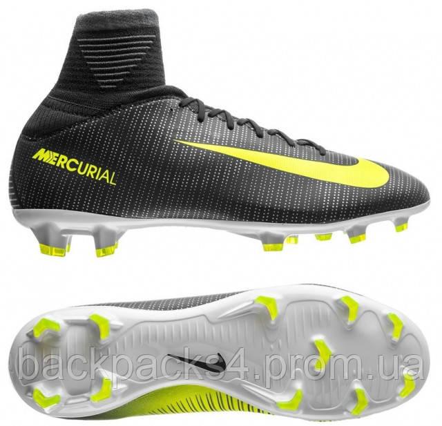 ce61ffa5a249 Футбольные детские профессиональные бутсы Nike Mercurial Superfly V CR7 FG  JR - Sports-Life