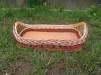 Поднос плетеный из лозы