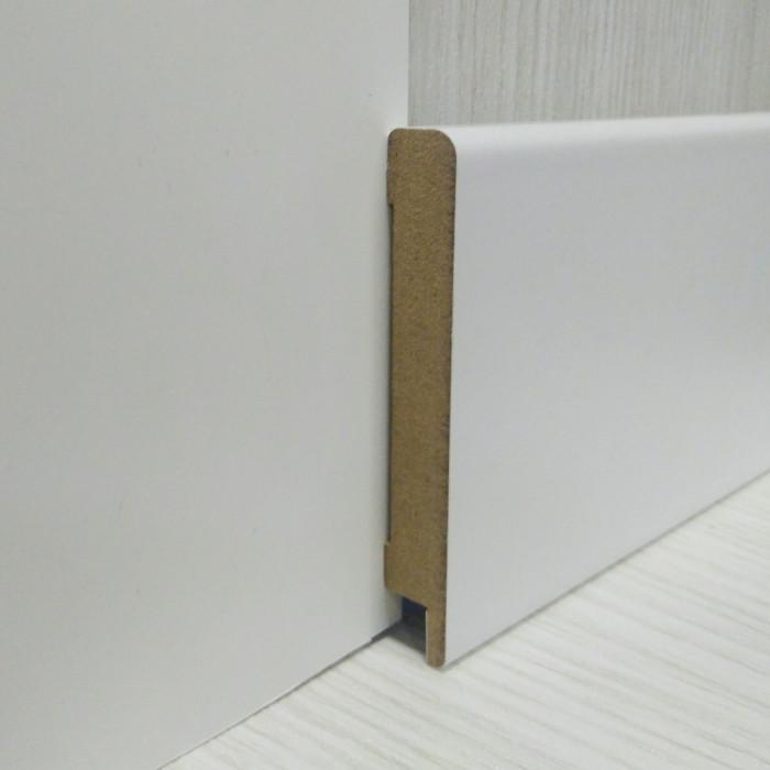 Плінтус білий МДФ для підлоги прямий 12*79*2800мм