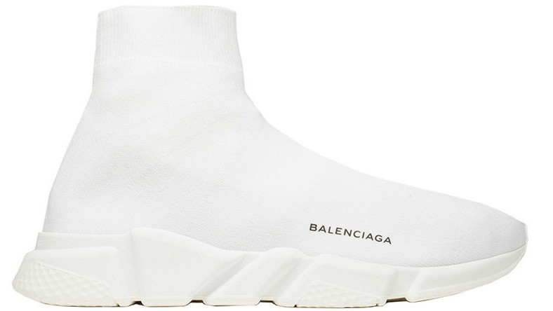 "Женские кроссовки Balenciaga Speed Trainer ""All White"" (Баленсиага) белые"