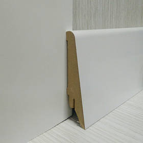 Плинтус белый МДФ напольный косой 21*82*2800мм