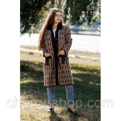 Тепле пальто жіноче-светр