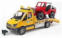 Машина Bruder - эвакуатор Mercedes Benz Sprinter с внедорожником 02535