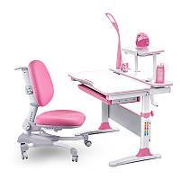 Комплект парта и кресло с лампой Evo-kids Evo-30 (дерево)