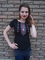 Вышитая женская футболка орнамент 590 (Л.Л.Л) , фото 1