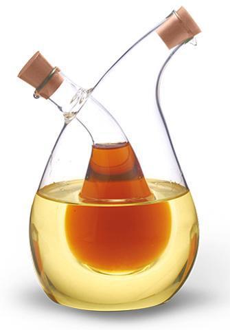 Емкость Fissman для масла 350мл и уксуса 70мл (2 в 1), стеклянная