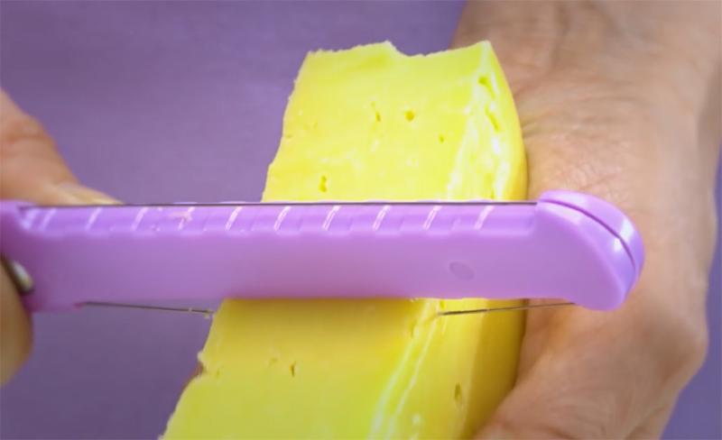 Нож для сыра Fissman со струной из нержавеющей стали двухсторонний 23с