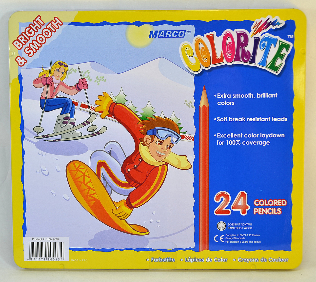 Цветные карандаши Marco Colorit 24 цвета металл коробка