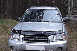 Дефлектор капота, мухобойка Subaru Forester с 2002-2005 г.в; (SG5,SG9) VIP