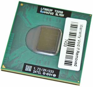 Процессор Intel Core Duo T2250 2 МБ кэш-памяти, тактовая частота 1,73 ГГц, частота системной шины 533 МГц