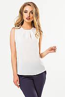 Бежевая блузка со складками (есть размеры)