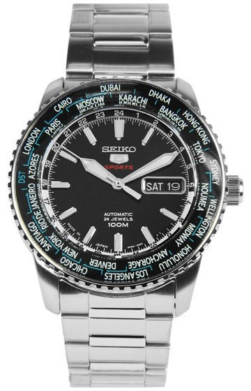 Часы Seiko 5 Sports SRP127J1 Automatic 4R36 Worldtime