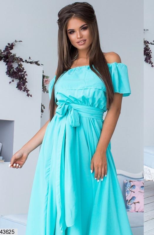 Платье женское из креп шифона  макси универсальный размер 42-46