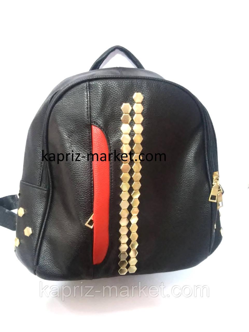 Рюкзак кожзам, среднего размера, 29см х 25см х 13см, фото 1