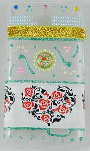 "Чехол накладка на LG L70 Dual D325, D320, ручной работы ""Floral Rose Heart"""