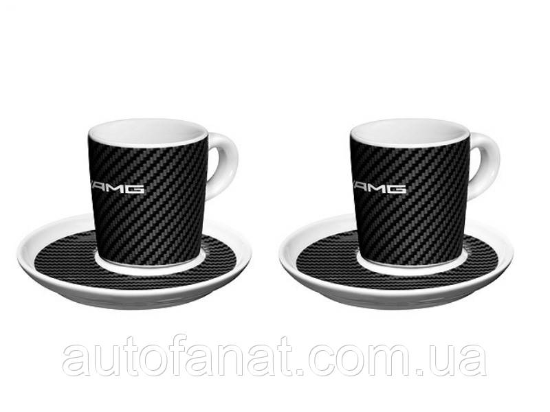 Набор из двух чашек для эспрессо Mercedes-Benz Espresso Cups, Set of 2, AMG, White/Black (B66953359)