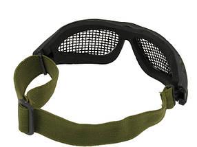 Защитные  очки с стальной сеткой MOD.2 – BLACK [CS] (для страйкбола), фото 3