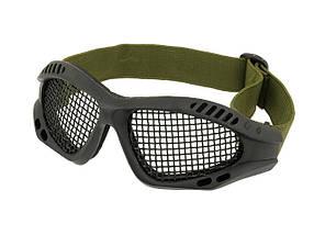 Защитные  очки с стальной сеткой MOD.2 – BLACK [CS] (для страйкбола), фото 2