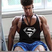 Чоловіча майка для бодібілдингу Супермен ретро, чорна