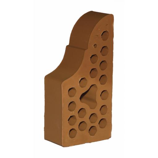 Лицевой фасонный кирпич СБК ВФ-4 1NF 250х120х65 мм морковный