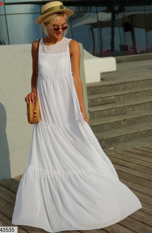 Платье женское шифоновое  макси размер универсальный 42-48