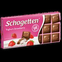 Шоколад Schogetten Yoghurt-Strawberry - Молочный шоколад с клубничным йогуртом
