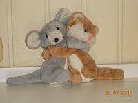 Мягкая игрушка-обнимашка кошка с мышкой