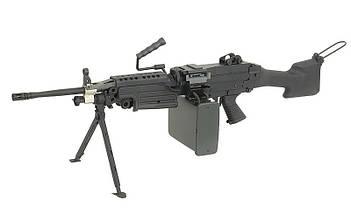 Пулемёт М249 MK II – BLACK [A&K] (для страйкбола), фото 2