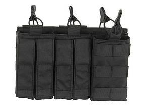 Тройной подсумок пистолетно-винтовочный AK/9MM (4 PLUS 4)- BLACK [8FIELDS] (для страйкбола), фото 2
