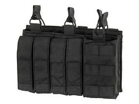 Тройной подсумок пистолетно-винтовочный AK/9MM (4 PLUS 4)- BLACK [8FIELDS] (для страйкбола), фото 3