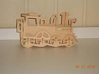 Паровозик-конструктор деревянный, фото 1