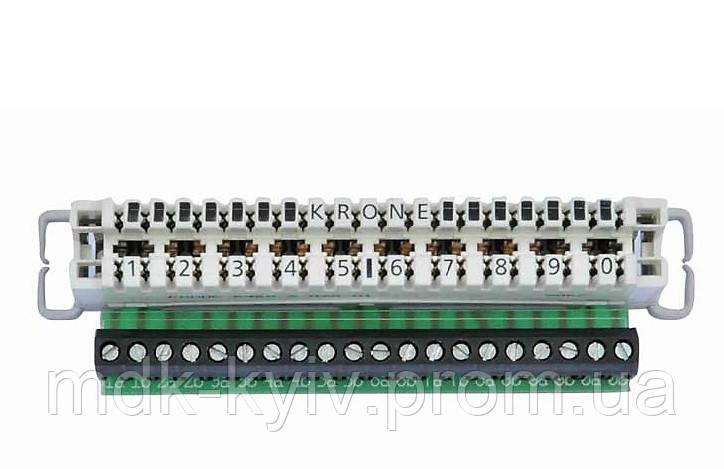 Плинт с нормально замкнутыми контактами LSA-PLUS® 2/10 для жил S≤2.5кв.мм, d≤1.78мм (7004 2 001-01 ADC KRONE)