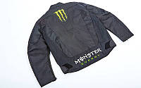 Мотокуртка текстиль-сетка с защитой Monster MS-5528 (PL, PVC, M-2XL-44-52, черный)